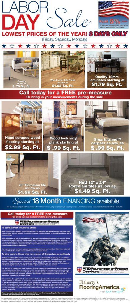 Labor Day Sale Houston Flooring Store Flahertys Flooring